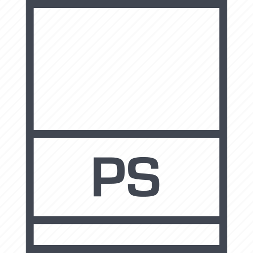 file, name, page, ps icon