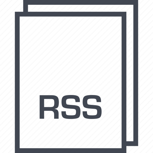 document, extension, file, rss icon