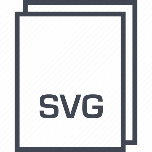 document, extension, file, svg page icon