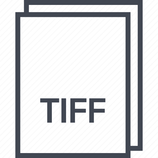 document, extension, file, tiff icon