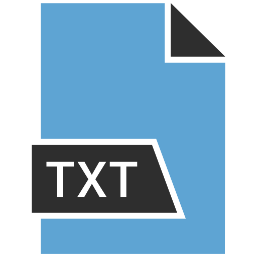 data, document, extension, file, txt icon