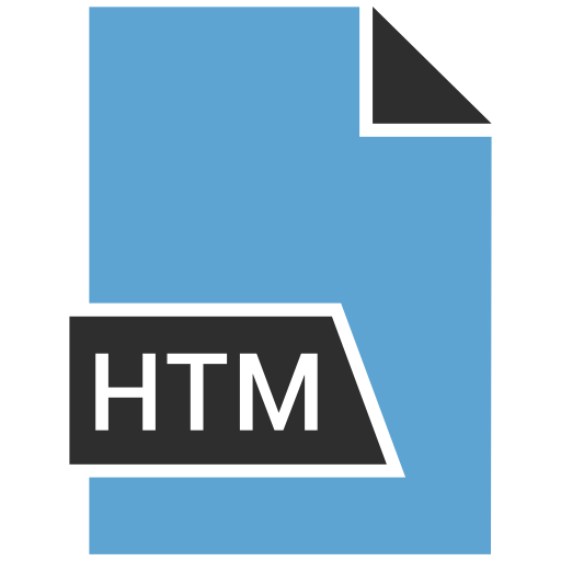 document, file, file extension, htm icon