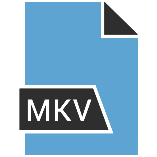 extention, format, mkv, type icon