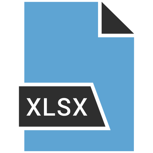 file, formet, xlsx icon