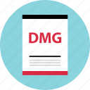 dmg, document, file, name, page, type icon