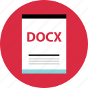 document, docx, file, name, page, type icon