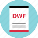 document, dwf, file, name, page, type icon