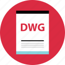 document, dwg, file, name, page, type icon