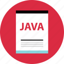 document, file, java, name, page, type icon