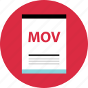 document, file, mov, name, page, type icon