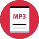 document, file, mp3, name, page, type icon
