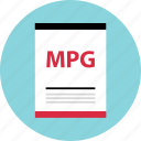 document, file, mpg, name, page, type icon