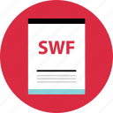 document, file, name, page, swf, type icon