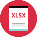 doc, document, file, name, page, type, xlsx icon