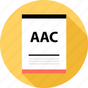 aac, document, file, page, type icon