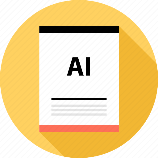 ai file, document, file, page, type icon