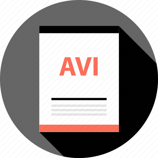 avi, document, file, page, type icon