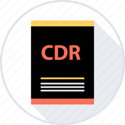 cdr, document, file, page, type icon