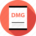 dmg, document, file, page, type icon