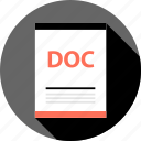 doc, document, file, page, type icon