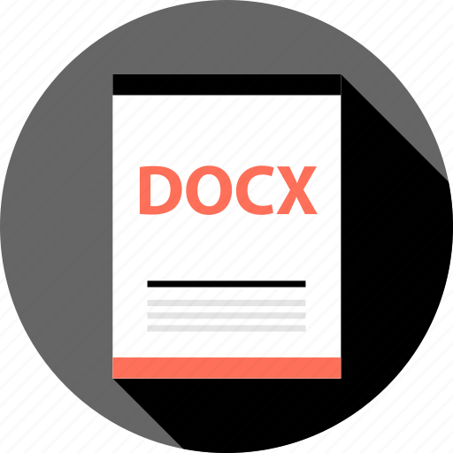 document, docx, file, page, type icon