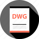 document, dwg, file, page, type icon