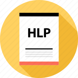 document, file, hlp, page, type icon