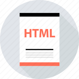 document, file, html, page, type icon