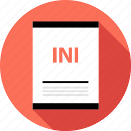 document, file, ini, page, type icon
