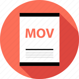 document, file, mov, page, type icon