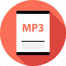 document, file, mp3, page, type icon
