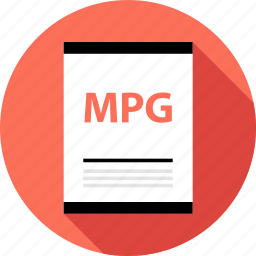 document, file, mpg, page, type icon