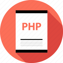 document, file, page, php, type icon