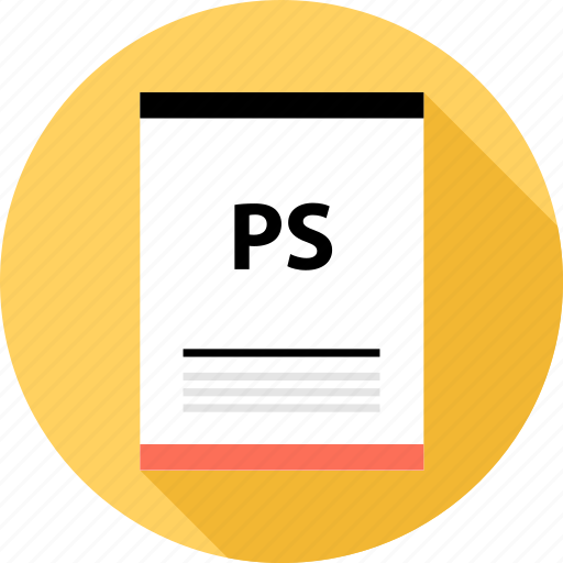 document, file, page, ps, type icon