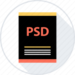 document, file, page, psd, type icon
