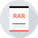 document, file, page, rar, type icon