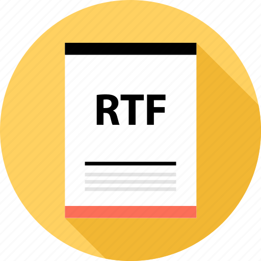 document, file, page, rtf, type icon