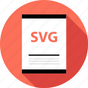 document, file, page, svg file, type icon