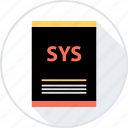 document, file, page, sys, type icon
