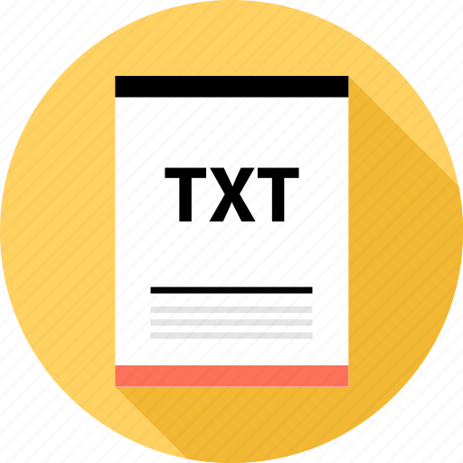 document, file, page, txt, type icon