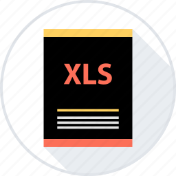 document, file, page, type, xls icon