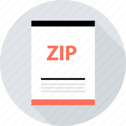 document, file, page, type, zip icon
