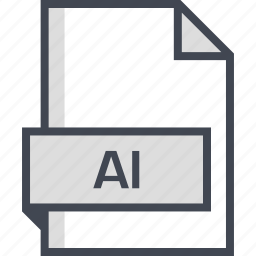 ai file, document, extension, name icon