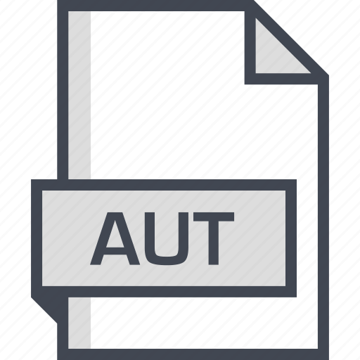 aut, document, extension, name icon