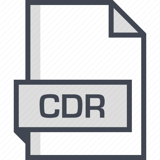 cdr, document, extension, name icon