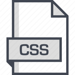 css, document, extension, name icon