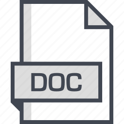 doc, document, extension, name icon