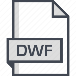 document, dwf, extension, name icon