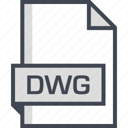 document, dwg, extension, name icon