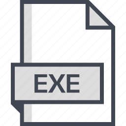 document, exe, extension, name icon